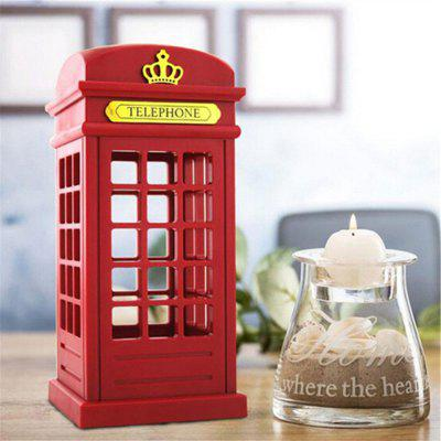 Adjustable Retro Telephone Booth USB Battery Dual-Use LED Bedside Table Lamp