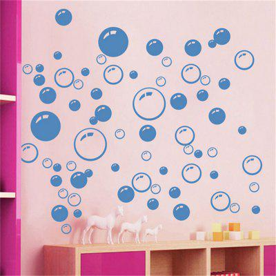 Buy Bubble Pattern Bathroom Living Room Background Wall Stickers, BLUE, Home & Garden, Home Decors, Wall Art, Wall Stickers for $4.33 in GearBest store