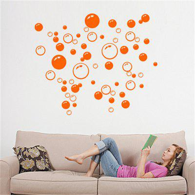 Buy Bubble Pattern Bathroom Living Room Background Wall Stickers, YELLOW, Home & Garden, Home Decors, Wall Art, Wall Stickers for $4.33 in GearBest store