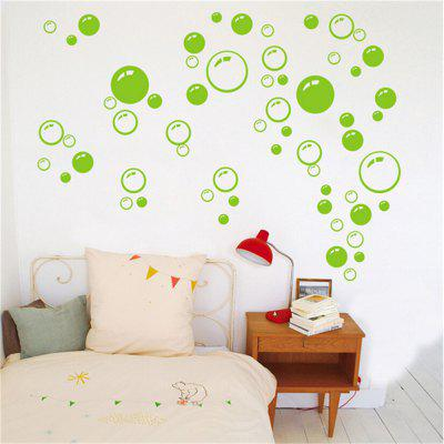 Buy Bubble Pattern Bathroom Living Room Background Wall Stickers, GREEN, Home & Garden, Home Decors, Wall Art, Wall Stickers for $4.33 in GearBest store