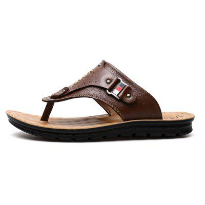 Outdoor Fashion Soft Lightweight Causal Leather MenS Slipper Flip FlopsMens Slippers<br>Outdoor Fashion Soft Lightweight Causal Leather MenS Slipper Flip Flops<br><br>Available Size: 38 39 40 41 42 43 44<br>Embellishment: Sequined<br>Gender: For Men<br>Outsole Material: TPR<br>Package Contents: 1 x Shoes(pair)<br>Pattern Type: Solid<br>Season: Summer<br>Slipper Type: Outdoor<br>Style: Leisure<br>Upper Material: Genuine Leather<br>Weight: 1.4784kg