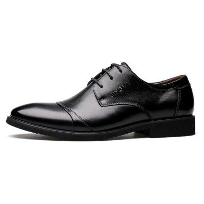 Men Soft Pointed Toe Offical Business ShoesFormal Shoes<br>Men Soft Pointed Toe Offical Business Shoes<br><br>Available Size: 38 39 40 41 42 43 44<br>Closure Type: Lace-Up<br>Embellishment: None<br>Gender: For Men<br>Occasion: Dress<br>Outsole Material: Rubber<br>Package Contents: 1x Shoes(pair)<br>Pattern Type: Patchwork<br>Season: Summer, Winter, Spring/Fall<br>Toe Shape: Pointed Toe<br>Toe Style: Closed Toe<br>Upper Material: Genuine Leather<br>Weight: 1.4784kg