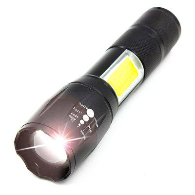 2018 New XML-T6 COB Zoomable Led Flashlight and Book Lights