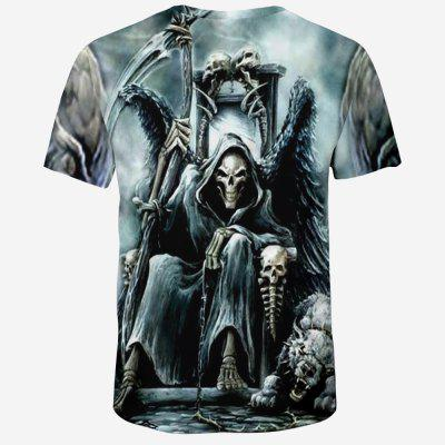 2018 New Fashion Men 3D Printed Short Sleeve T-shirtMens Short Sleeve Tees<br>2018 New Fashion Men 3D Printed Short Sleeve T-shirt<br><br>Collar: Round Neck<br>Material: Polyester, Spandex<br>Package Contents: 1XT-shirt<br>Pattern Type: Skulls<br>Sleeve Length: Short Sleeves<br>Style: Fashion<br>Weight: 0.1600kg