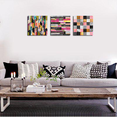QiaoJiaHuaYuan No Frame Canvas Nordic Living Room Abstract Print 3PCSPrints<br>QiaoJiaHuaYuan No Frame Canvas Nordic Living Room Abstract Print 3PCS<br><br>Brand: Qiaojiahuayuan<br>Craft: Print<br>Form: Three Panels<br>Material: Canvas<br>Package Contents: 3 x Print<br>Package size (L x W x H): 47.00 x 5.00 x 5.00 cm / 18.5 x 1.97 x 1.97 inches<br>Package weight: 0.2000 kg<br>Painting: Without Inner Frame<br>Product size (L x W x H): 40.00 x 40.00 x 3.00 cm / 15.75 x 15.75 x 1.18 inches<br>Product weight: 0.2000 kg<br>Shape: Square<br>Style: Abstract<br>Subjects: Abstract<br>Suitable Space: Living Room,Bedroom