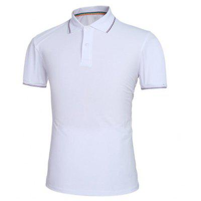 Men Pure Color Turndown Collar Short Sleeve Polo ShirtMens Short Sleeve Tees<br>Men Pure Color Turndown Collar Short Sleeve Polo Shirt<br><br>Collar: Polo Collar<br>Color Style: Solid<br>Fabric Type: Broadcloth<br>Material: Cotton, Cotton Blends<br>Package Contents: 1 x Polo Shirt<br>Pattern Type: Solid<br>Sleeve Length: Short<br>Style: Casual<br>Type: Slim<br>Weight: 0.2300kg