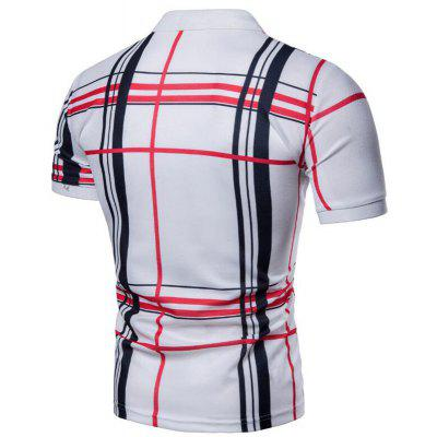 Men Casual Lattice Short Sleeve Polo ShirtMens Short Sleeve Tees<br>Men Casual Lattice Short Sleeve Polo Shirt<br><br>Collar: Polo Collar<br>Color Style: Contrast Color<br>Fabric Type: Jersey<br>Feature: Breathable<br>Material: Cotton, Cotton Blends<br>Package Contents: 1 x Polo  Shirt<br>Pattern Type: Plaid<br>Sleeve Length: Short<br>Style: Casual<br>Type: Slim<br>Weight: 0.2000kg