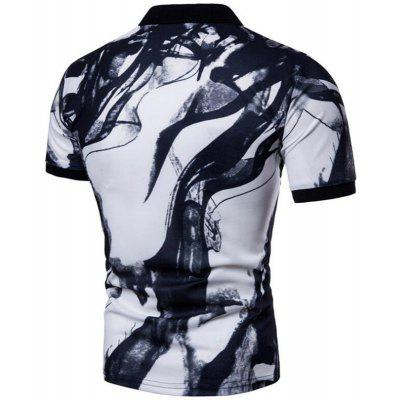Men Casual Ink Jet Print Short Sleeve Polo ShirtMens Short Sleeve Tees<br>Men Casual Ink Jet Print Short Sleeve Polo Shirt<br><br>Collar: Polo Collar<br>Color Style: Contrast Color<br>Fabric Type: Jersey<br>Material: Cotton, Cotton Blends<br>Package Contents: 1 x Polo Shirt<br>Pattern Type: Hand-painted<br>Sleeve Length: Short<br>Style: Casual<br>Type: Slim<br>Weight: 0.2000kg