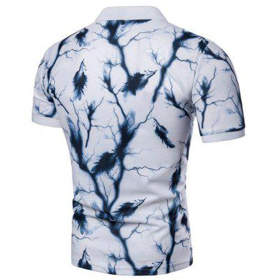 Men Casual Feather Print Short Sleeve Polo ShirtMens Short Sleeve Tees<br>Men Casual Feather Print Short Sleeve Polo Shirt<br><br>Collar: Polo Collar<br>Color Style: Solid<br>Fabric Type: Jersey<br>Feature: Breathable<br>Material: Cotton<br>Package Contents: 1 x Polo Shirt<br>Pattern Type: Feather<br>Sleeve Length: Short<br>Style: Casual<br>Type: Slim<br>Weight: 0.2000kg
