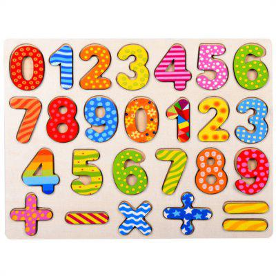 Wooden Hand Grasp Board Digital Puzzle Early Childhood Education for Children
