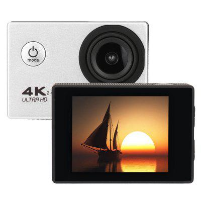 4K WiFi 2.4G Ultra HD Waterproof with Remote Control Sport Camera US PlugAction Cameras<br>4K WiFi 2.4G Ultra HD Waterproof with Remote Control Sport Camera US Plug<br><br>Aerial Photography: Yes<br>Anti-shake: Yes<br>Application: Motorcycle, Aerial Photography, Underwater, Extreme Sports, Ski, Bike<br>Audio System: Built-in microphone/speaker (AAC)<br>Auto-Power On: Yes<br>Battery Capacity (mAh): 1050mAh<br>Battery Type: Removable<br>Camera Timer: Yes<br>Charge way: AC adapter,USB charge by PC,Car charger<br>Charging Time: 3 Hours<br>Decode Format: H.264<br>Delay Shutdown: Yes<br>Features: Wireless<br>FPV Output: Yes<br>Frequency: Auto<br>Function: Loop-cycle Recording, WiFi, Waterproof, Remote Control<br>HDMI Output: Yes<br>Image Format: JPEG<br>Image resolutions: 4608 x 3456(16MP), 4032 x 3024 (12MP), 3264 x 2448 (8MP)<br>Interface Type: Micro USB<br>ISO: Auto<br>Language: English,French,Spanish,Portuguese,German,Italian,Traditional Chinese,Japanese<br>Loop-cycle Recording: Yes<br>Loop-cycle Recording Time: OFF,1min,3min,2min,5min<br>Max External Card Supported: TF 32G (not included)<br>Microphone: Built-in<br>Motion Detection: Yes<br>Package Contents: 1 x Camera, 1 x Case, 1 x Battery, 2 x  Buckle, 1 x US Plug, 1 x Cable, 1 x Clip, 1 x Frame, 1 x Bicycle, 1 x J-shaped, 3 x Screw , 1 x Adapter, 4 x Belt , 1 x Cloth, 1 x Manual, 4 x Tape,2 x Adhesive<br>Package size (L x W x H): 22.50 x 15.50 x 6.00 cm / 8.86 x 6.1 x 2.36 inches<br>Package weight: 0.4460 kg<br>Product size (L x W x H): 5.80 x 4.00 x 2.50 cm / 2.28 x 1.57 x 0.98 inches<br>Product weight: 0.0550 kg<br>Remote Control: Yes<br>Scene: Sport<br>Screen: With Screen<br>Screen size: 2.0inch<br>Screen type: TFT<br>Sensor: CMOS<br>Standby time: 150min<br>Time Stamp: Yes<br>Type: Sports Camera, FPV Action Camera<br>Type of Camera: 4K<br>USB Function: USB-Disk, PC-Camera<br>Video format: AVI<br>Video Frame Rate: 30FPS<br>Video Output: HDMI<br>Video Resolution: 1080P(30fps),720P (30fps)<br>Video System: NTSC<br>