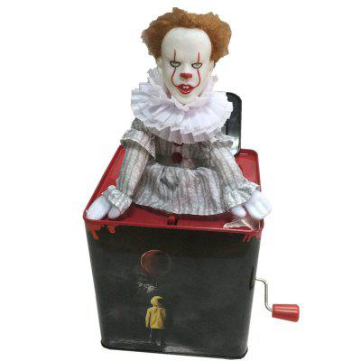 Novelty Bouncing Joker Jack in the Box Music ToyNovelty Toys<br>Novelty Bouncing Joker Jack in the Box Music Toy<br><br>Features: Musical, Creative Toy<br>Materials: Metal<br>Package Contents: 1 x Music Box<br>Package size: 15.00 x 15.00 x 16.00 cm / 5.91 x 5.91 x 6.3 inches<br>Package weight: 0.4500 kg<br>Product size: 13.60 x 13.60 x 14.00 cm / 5.35 x 5.35 x 5.51 inches<br>Product weight: 0.4000 kg<br>Series: Fantasy<br>Theme: Music,Trick