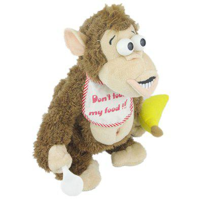 Magnetic Control Standing Monkey Electric Plush Orangutan Toys Gift for Children