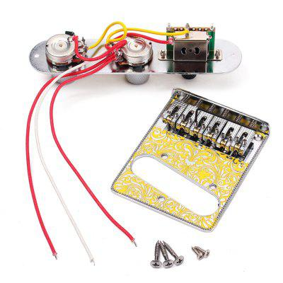 Bridge with 3 Way Switch Control Knob Plate for Electric Guitar SetGuitar Parts<br>Bridge with 3 Way Switch Control Knob Plate for Electric Guitar Set<br><br>Materials: Metal<br>Package Contents: 1 x Bridge, 1 x Control Plate, 5 x Screw, 1 x Wrench<br>Package size: 18.00 x 12.00 x 3.60 cm / 7.09 x 4.72 x 1.42 inches<br>Package weight: 0.3150 kg<br>Product size: 16.00 x 8.50 x 3.45 cm / 6.3 x 3.35 x 1.36 inches<br>Suitable for: Electric Guitar<br>Type: Bridge