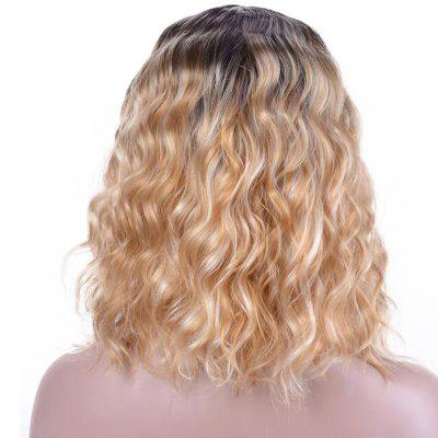 Yellow Short Curly Hair for Women Ombre Synthetic Wig Heat Resistant 12 inch women s short wigs curly layered hair wig for women