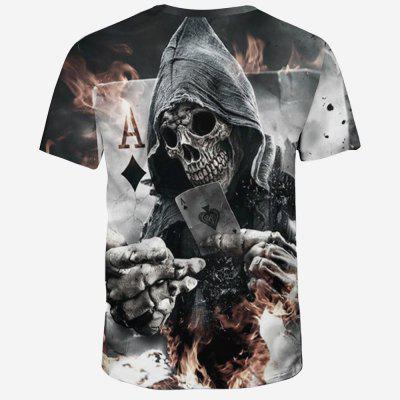 Summer Fashion 3D Spade Death Print Mens Round Neck Short T-shirtMens Short Sleeve Tees<br>Summer Fashion 3D Spade Death Print Mens Round Neck Short T-shirt<br><br>Collar: Round Neck<br>Fabric Type: Broadcloth<br>Material: Polyester, Spandex<br>Package Contents: 1xT-Shirt<br>Pattern Type: Skulls<br>Sleeve Length: Short Sleeves<br>Style: Fashion<br>Weight: 0.2200kg