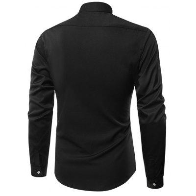 New Mens Fashion Clothes with Mens Long Sleeve Shirt mens stand collar denim sherpa lined coats