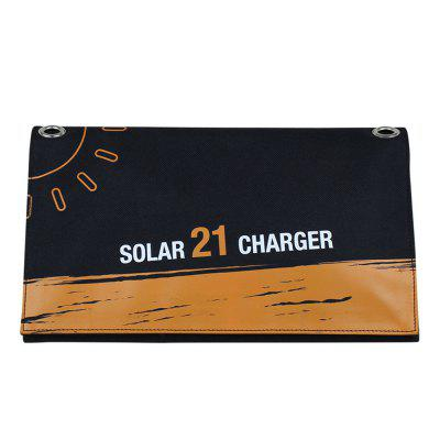 21W Solar Folding Bag Outdoor Solar Charger 2015 new arrival 21w folding solar panel with 6 folds in camouflage green color portable charger petcs21ta