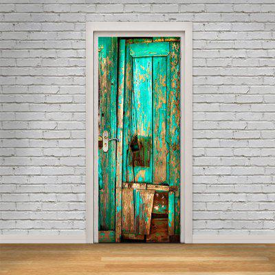 3D Bright Blue Wooden Door Sticker Decorative Wooden Painting Door DecalsWall Stickers<br>3D Bright Blue Wooden Door Sticker Decorative Wooden Painting Door Decals<br><br>Art Style: Plane Wall Stickers, Toilet Stickers<br>Color Scheme: Multicolor<br>Effect Size (L x W): 200 x 77 cm<br>Function: Decorative Wall Sticker, 3D Effect<br>Layout Size (L x W): 200 x 77 cm<br>Material: Paper, Vinyl(PVC)<br>Package Contents: 1 x Set of Door Stickers<br>Package size (L x W x H): 40.00 x 6.00 x 6.00 cm / 15.75 x 2.36 x 2.36 inches<br>Package weight: 0.4800 kg<br>Product weight: 0.4500 kg<br>Quantity: 1 Set<br>Sizes: Others<br>Subjects: Fashion,Architecture,3D,Shape,Romance<br>Suitable Space: Living Room,Bedroom,Office,Cafes,Kids Room,Pathway,Corridor,Kids Room,Study Room / Office,Girls Room<br>Type: 3D Wall Sticker, Plane Wall Sticker
