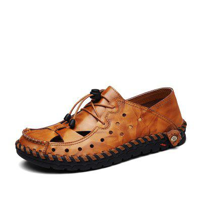 ZEACAVA Fashion Business Breathable Leather Shoes for Men
