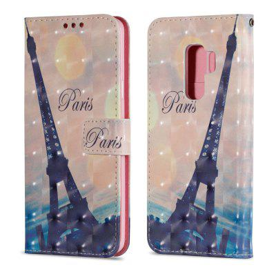 3D PU Leather Wallet Case for Samsung Galaxy S9 Plus Tower Pattern