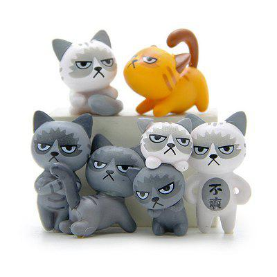 Super Cute Lovely Unhappy Cats Action Figure Toy Kids Gifts 6pcsNovelty Toys<br>Super Cute Lovely Unhappy Cats Action Figure Toy Kids Gifts 6pcs<br><br>Features: Cartoon, DIY Toy, Creative Toy<br>Materials: PVC<br>Package Contents: 6 x Unhappy Cats Action Figure Toy<br>Package size: 11.00 x 7.00 x 2.00 cm / 4.33 x 2.76 x 0.79 inches<br>Package weight: 0.0450 kg<br>Product size: 9.00 x 5.00 x 1.80 cm / 3.54 x 1.97 x 0.71 inches<br>Product weight: 0.0420 kg<br>Series: Fashion,Entertainment,Lifestyle<br>Theme: Other,Animals,Family