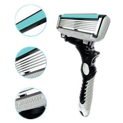 Mens Hair Razor Stainless Steel Safety Manual Shaving Trimmer 6 LayersEpilators<br>Mens Hair Razor Stainless Steel Safety Manual Shaving Trimmer 6 Layers<br><br>Gender: Male<br>Package Content: 1 x Razor with 6 Layer Blade<br>Package Size(L x W x H): 18.00 x 7.00 x 1.50 cm / 7.09 x 2.76 x 0.59 inches<br>Package weight: 0.0150 kg<br>Product weight: 0.0100 kg