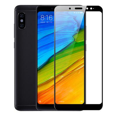 Naxtop Full Screen Protector Tempered Glass for Xiaomi Redmi Note 5 Pro -Black rocs colorful mirror tempered glass screen protector for iphone 5 5s 5c golden