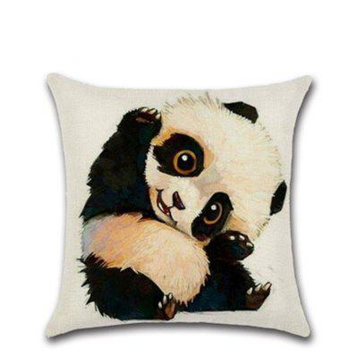 Cute Baby Panda Sketch with Pillow Cover