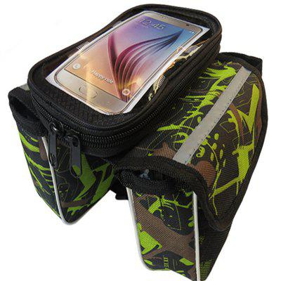 Bicycle Handlebar Bags Front Shelf Storage Saddle with Touch Screen Phone Case