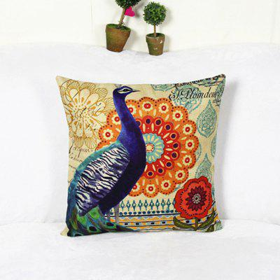 Peacock Auspicious Rich Linen Cushion PillowcasePillow<br>Peacock Auspicious Rich Linen Cushion Pillowcase<br><br>Category: Pillow Case<br>For: All<br>Material: Linen<br>Occasion: Bedroom<br>Package Contents: 1 x  Pillow Cover<br>Package size (L x W x H): 25.00 x 20.00 x 10.00 cm / 9.84 x 7.87 x 3.94 inches<br>Package weight: 0.1000 kg<br>Product size (L x W x H): 45.00 x 45.00 x 1.00 cm / 17.72 x 17.72 x 0.39 inches<br>Product weight: 0.0800 kg