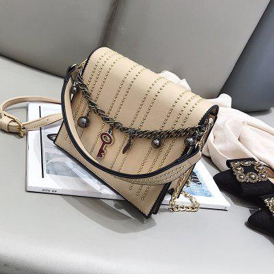 Individual Chain Rivet Crossbody BagCrossbody Bags<br>Individual Chain Rivet Crossbody Bag<br><br>Closure Type: Zipper<br>Gender: For Women<br>Handbag Type: Crossbody bag<br>Main Material: PU<br>Occasion: Versatile<br>Package Contents: 1 x Crossbody Bag<br>Package size (L x W x H): 19.00 x 8.00 x 17.00 cm / 7.48 x 3.15 x 6.69 inches<br>Package weight: 0.6500 kg<br>Pattern Type: Others<br>Product size (L x W x H): 18.00 x 7.00 x 16.00 cm / 7.09 x 2.76 x 6.3 inches<br>Product weight: 0.5500 kg<br>Style: Casual