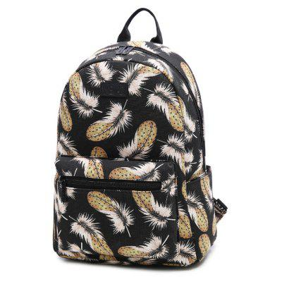 Feather Pattern Casual Fashion Double Shoulder BagBackpacks<br>Feather Pattern Casual Fashion Double Shoulder Bag<br><br>For: Camping, Hiking, Adventure, Traveling<br>Material: Canvas<br>Package Contents: 1 x Backpack Bag<br>Package size (L x W x H): 30.00 x 16.00 x 40.00 cm / 11.81 x 6.3 x 15.75 inches<br>Package weight: 0.6000 kg<br>Product size (L x W x H): 28.00 x 14.00 x 36.00 cm / 11.02 x 5.51 x 14.17 inches<br>Product weight: 0.6000 kg<br>Type: Backpack