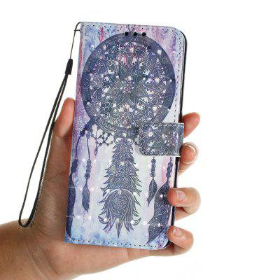 3D PU Leather Wallet Case for Samsung Galaxy S9 Plus Black Wind Chimes Pattern