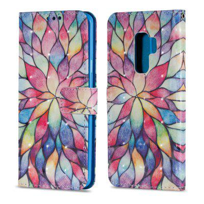 3D PU Leather Wallet Flip Case for Samsung Galaxy S9 Plus Lotus Pattern