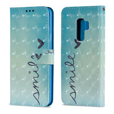 3D PU Leather Wallet Case for Samsung Galaxy S9 Plus Smile Pattern