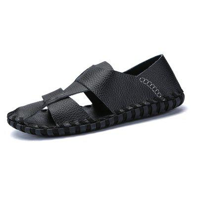 Roman Handmade Leather Retro SandalsMens Sandals<br>Roman Handmade Leather Retro Sandals<br><br>Available Size: 38-44<br>Closure Type: Slip-On<br>Embellishment: Hollow Out<br>Gender: For Men<br>Heel Hight: 1cm<br>Occasion: Casual<br>Outsole Material: Rubber<br>Package Contents: 1 x shoes(pair)<br>Pattern Type: Solid<br>Sandals Style: Slides<br>Style: Rome<br>Upper Material: Genuine Leather<br>Weight: 1.7424kg