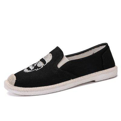 Twine Knitting Beckham Avatar Mens ShoesFlats &amp; Loafers<br>Twine Knitting Beckham Avatar Mens Shoes<br><br>Available Size: 39-44<br>Closure Type: Slip-On<br>Embellishment: Embroidery<br>Gender: For Men<br>Outsole Material: Rubber<br>Package Contents: 1 x shoes(pair)<br>Pattern Type: Figure<br>Season: Summer<br>Toe Shape: Round Toe<br>Toe Style: Closed Toe<br>Upper Material: Cloth<br>Weight: 1.7424kg
