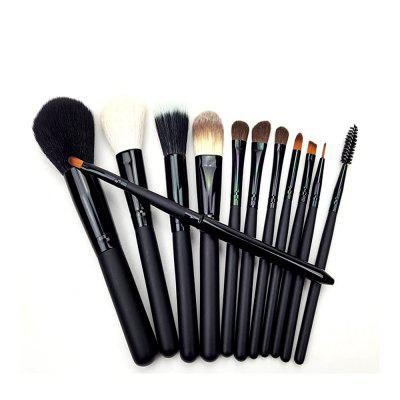 Cmy-08 12pcs Brush Set with Zipper BagMakeup Brushes &amp; Tools<br>Cmy-08 12pcs Brush Set with Zipper Bag<br><br>Brush Material: Goat Hair<br>Handle Material: Wood<br>Package Content: 12 x Makeup Brush?1 x Brush Package<br>Package size (L x W x H): 17.30 x 12.00 x 2.00 cm / 6.81 x 4.72 x 0.79 inches<br>Package weight: 0.2000 kg<br>Product size (L x W x H): 16.30 x 10.00 x 1.00 cm / 6.42 x 3.94 x 0.39 inches<br>Product weight: 0.1500 kg<br>Used With: Sets / Kits