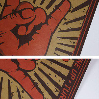 Retro Poster Rock Gesture Wall StickerWall Stickers<br>Retro Poster Rock Gesture Wall Sticker<br><br>Function: Decorative Wall Sticker<br>Material: Paper<br>Package Contents: 1 x Wall Sticker<br>Package size (L x W x H): 52.00 x 36.00 x 5.00 cm / 20.47 x 14.17 x 1.97 inches<br>Package weight: 0.1800 kg<br>Product size (L x W x H): 51.00 x 35.50 x 0.20 cm / 20.08 x 13.98 x 0.08 inches<br>Product weight: 0.1500 kg<br>Quantity: 1<br>Subjects: Vintage<br>Suitable Space: Living Room,Bedroom,Dining Room,Hotel,Cafes<br>Type: Plane Wall Sticker
