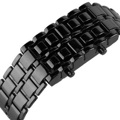 Stainless Steel Men Digital WatchesLED Watches<br>Stainless Steel Men Digital Watches<br><br>Band material: Stainless Steel<br>Case material: Alloy<br>Clasp type: Sheet folding clasp<br>Display type: LED lamp<br>Hour formats: 24 Hour<br>Movement type: Digital watch<br>Package Contents: 1 x Watch<br>Package size (L x W x H): 10.00 x 13.00 x 21.00 cm / 3.94 x 5.12 x 8.27 inches<br>Package weight: 0.1100 kg<br>People: Male table<br>Product size (L x W x H): 22.00 x 4.00 x 2.50 cm / 8.66 x 1.57 x 0.98 inches<br>Product weight: 0.1000 kg<br>Shape of the dial: Rectangle<br>Watch color: black white<br>Watch style: Casual, Fashion, LED