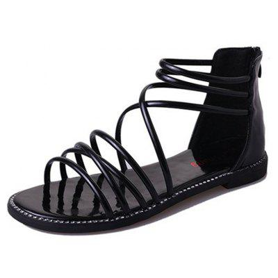 Summer Causal Flat Sandals Back Zippers Comfortable Shoes for Women