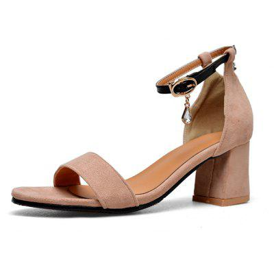 The New Round Head Thick Heel  Style Women's Sandals