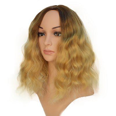 Black to Yellow Hair Dark Roots Long Curly Wigs Bob for All Women 14 inch 8 colours colorful curly hair party cosplay long wavy wigs
