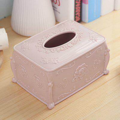 Rose Carved Tissue Storage BoxStorage Boxes &amp; Bins<br>Rose Carved Tissue Storage Box<br><br>Functions: Home<br>Materials: Plastic<br>Package Contents: 1 x Tissue Box<br>Package Size(L x W x H): 17.50 x 13.00 x 9.50 cm / 6.89 x 5.12 x 3.74 inches<br>Package weight: 0.3000 kg<br>Product Size(L x W x H): 17.00 x 12.50 x 9.00 cm / 6.69 x 4.92 x 3.54 inches<br>Product weight: 0.2500 kg<br>Types: Storage Boxes and Bins