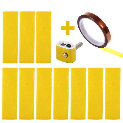15PCS 3D Printer Heating Block Cotton with Kapton Tape for Creality CR-10