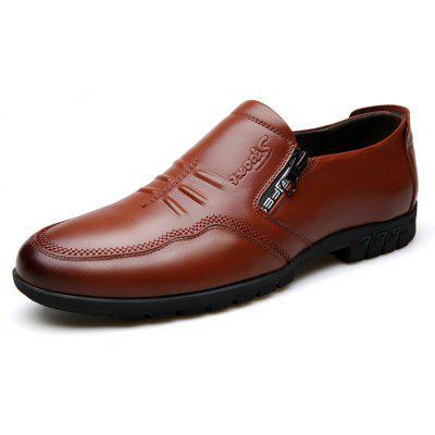 Male Comfort Flat Loafers Soft Driving Cowhide Men's Causal Shoes
