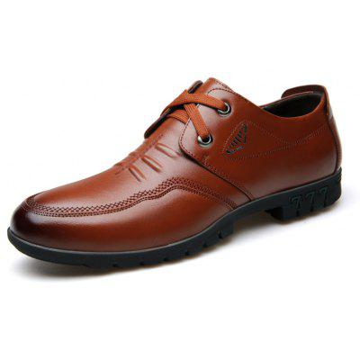 Male Cowhide Comfort Lace Up Soft Driving Leather Men's Causal Shoes