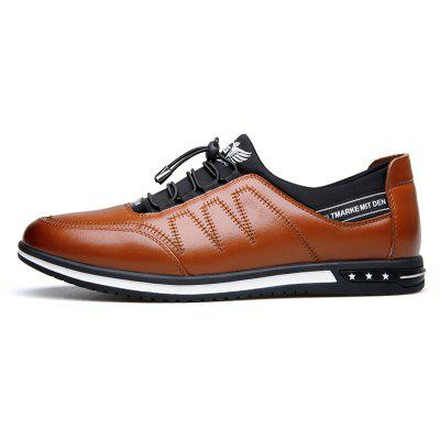 Male Fashion Young Breathable Soft Sport Flat Lace-Up Solid Leather Causal ShoesMen's Oxford<br>Male Fashion Young Breathable Soft Sport Flat Lace-Up Solid Leather Causal Shoes<br><br>Available Size: 38 39 40 41 42 43<br>Closure Type: Lace-Up<br>Embellishment: Appliques<br>Gender: For Men<br>Occasion: Casual<br>Outsole Material: Rubber<br>Package Contents: 1 x Shoes(pair)<br>Pattern Type: Solid<br>Season: Summer, Winter, Spring/Fall<br>Toe Shape: Round Toe<br>Toe Style: Closed Toe<br>Upper Material: Full Grain Leather<br>Weight: 1.4784kg