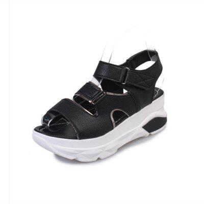 2018 New All-match Thick Velcro Toe Sandals